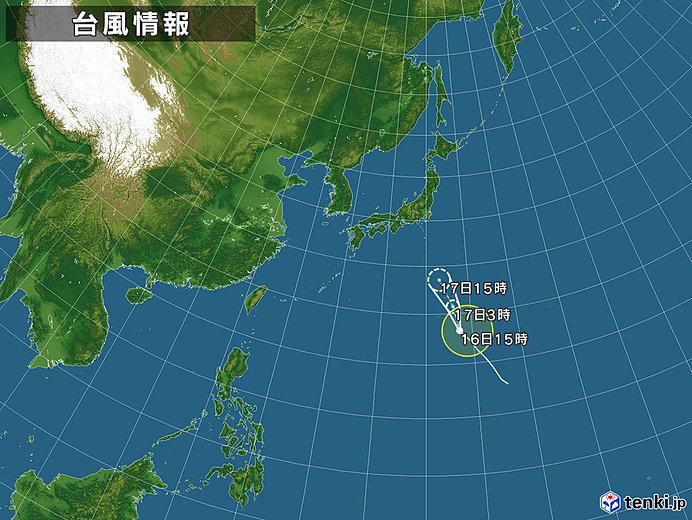 台風16号 進路予測